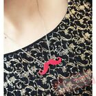 Europe Fashion Mustache Pendant Necklace Black Blue Red