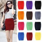 New Women Elegant A Line Pure Color Stretch Mini Skirt Fitted Slim Tight Shorts