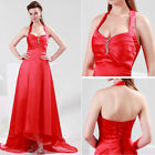 2015 New RED Wedding Bridesmaid Evening Party Formal Prom long Dresses 8 10 12 +