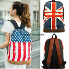 1Pc New design US & UK Flag Shoulder Bag Handbag School Bag Campus Backpack