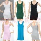 Lady's Girl's Sexy Sleeveless Long Tank Top Vest T-Shirt Camisole fashion new