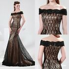 Charm Mermaid Slim Sexy Lace Formal Cocktail Ball Gown Evening Prom Party Dress