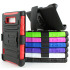 For LG Optimus Showtime L86C L86G Rugged Hybrid Case Belt Clip Holster Stand