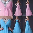 Sweetheart Beaded Prom Bridal Gowns Bridesmaid Wedding Party Evening Maxi Dress