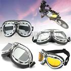 Vintage Motorcycle Goggles Motorbike Flying Scooter Aviator Helmet Glasses New