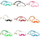 "2 Nice Bracelets Adjustable Enamel Moustache Braided 15cm(5 7/8"") M1026"