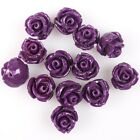 35/175pcs Hotsale Pure Colour Rose Flower Charms Faux Coral Spacer Beads 8mm
