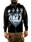KISS Army Faces Zip-Up Black Hoodie SIZE LARGE