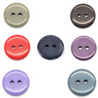 "100 PCs Resin Buttons Sewing Scrapbooking Round 18mm( 6/8"")Dia. M1523"