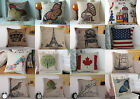 New 45*45cm Rustic Linen Throw Pillow Case Square Pillowslip Back Cushion Cover