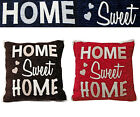 HOME SWEET HOME CUSHIONS COVER- Luxury Woven Chenille Scatter Cushion Covers