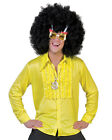 Mens Yellow Saturday Night Disco Shirt Halloween Costume