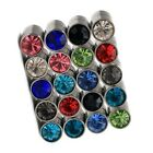 Stainless Steel Magnet Crystal Mens Womens Unisex Studs Earrings
