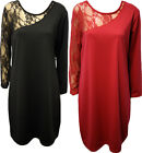 New Ladies Lace One Shoulder Long Sleeve Womens Plus Size Stretch Dress 14 - 28