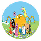 Adventure Time Personalised Edible Rice/Icing Cake Topper 7.5 inch Circle