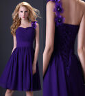 3 Styles Sexy Formal Bridesmaid Gown Prom Ball Evening Cocktail Short Mini Dress
