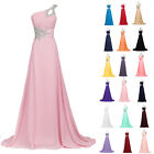 2015 Long Chiffon Evening Dress Bridesmaids Formal Party Graduation Gown UK 6-20
