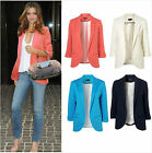 New Womens Fashion Candy Color Seventh Volume Sleeve Jacket Blazer 5 Colors
