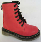 Girls - H5011 - Red PU Lace and Zip Up Boots By Spot On