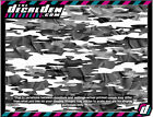 Arctic Winter Army Camo Vehicle Wrap Panel Camouflage snow cloth effect DecalDen