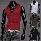 Muscle Sexy Mens Slim Fit Sleeveless Hoodies Coat Vest Tank Tops Gym Shirts S-XL