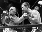 1952 ROCKY MARCIANO KO's JERSEY JOE WALCOTT BOXING PHOTO