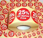 25% Off Promotional Point Of Sale Retail Stickers Sticky Tags Labels POS