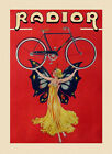 Radior Bicycle Bike Cycles Butterfly Lady Vintage Poster Reproduction FREE S/H