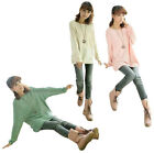 Fashion Ladies Women's Casual Batwing Knitted Jumper Loose Long Sweater Tops