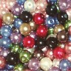 Assorted Faux Glass Pearl Beads - choose your own size 4mm,6mm,8mm,10mm - UK
