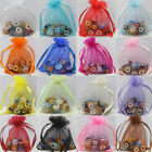 25-100pcs Organza Packing Pouch Wedding Favor Gift Jewelry Bags 9x7cm 16 colors
