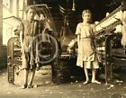 1911 COTTON SPINNERS BAREFOOT GIRLS CHILD LABOR PHOTO LEWIS HINE