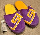 LSU Tigers Slippers Team Colors Logo NEW NCAA Two Toned House shoes SL13