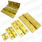 "2x ★SOLID BRASS★ BUTT HINGES 25,50,75,100mm Cupboard Cabinet Door 1"" 2"" 3"" 4"""
