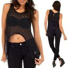 Lace blouse top with stomach cut out and buttons in the back  black casual S,M,L