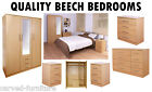 New Beech Effect Super Modular Exclusive High Quality Bedroom Units Sets