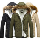 Stylish Men's Slim Fit Jackets Hoody Unique Sleeves PU Leather Coats Outwear New