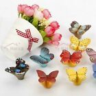 11 Colors Resin Butterfly Cabinet Cupboard Drawer Knob Pulls Handle MBS006