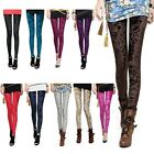 Womens Celeb Velvet Sexy Soft Stretch Slim Fit Pants Tights Leggings 9 Colors