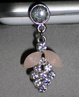 Grapes Dangle Rhinestones Cell Phone Charm Earphone Cap Dust Plug Ship from U.S.