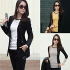 Women Cotton Crew Neck Color Block Button Design Long Sleeve Top T Shirt Blouse