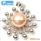 Fashion 10-11mm natural freshwater pearl white gold plated pendant star shape