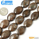 "oval faceted Bronzite gemstone loose beads strand 15""jewelery making beads"