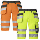 Snickers Hi Vis Holster Pocket Shorts Class 1 (Dirt Repelling) UK SUPPLIER-3033