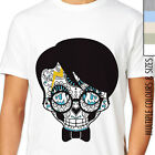 HARRY POTTER SUGAR SKULL T-SHIRT. Day Of The Dead, Rock Biker, Indy Geek Art