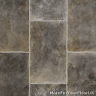 Grey Rectangle Tile Vinyl Flooring, Slip Resistant Lino 4m, Cushion Floor