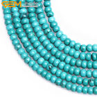 """Wholesale Rondelle Blue Turquoise Stone Spacer Beads For Jewelry Making 15"""""""