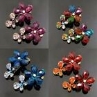 ADD'L Item FREE SHIPPING 2pc antiqued rhinestone crystal flower hair clamp clip