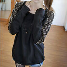 New Casual Women's Lady Skull Heads Print Lace T-shirt Batwing Loose Tops Blouse