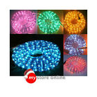10m/18m/28m/38m Xmas Rope Light Multi Clear White Yellow Blue Red Purple Green